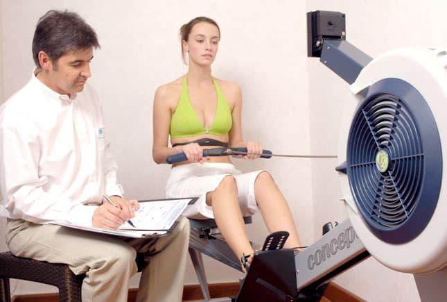 évaluation physique avec un diététicien