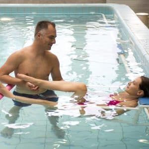Rééducation en piscine d'eau de mer