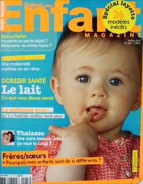 Couverture de Enfant Magazine - Avril 2012