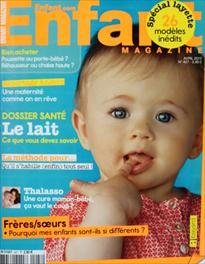 Couverture de Enfant Magazine - Avril 2012