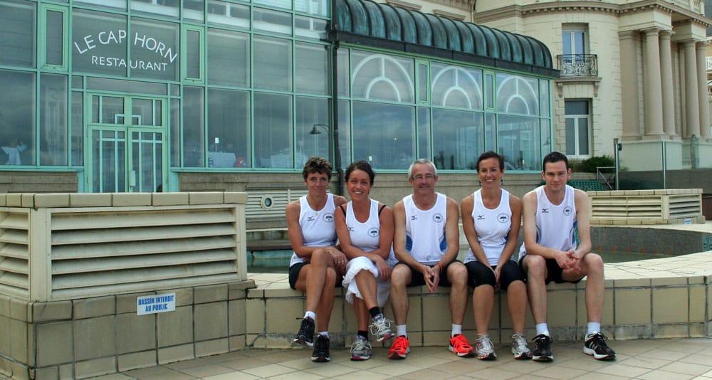 Équipe des Thermes Marins de Saint-Malo au marathon vert