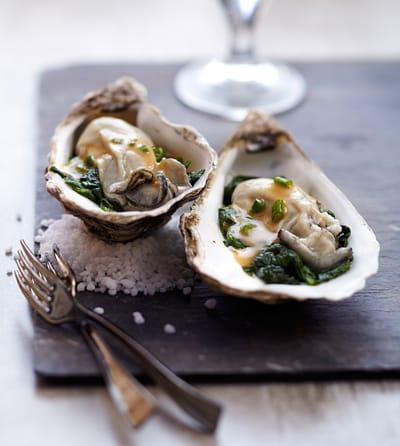 Recette diététique : Huîtres pochées au cidre