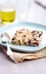 Recette diététique : Tartare de saumon aux raisins secs