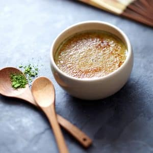 Recette diététique : Crème brûlée au thé Matcha