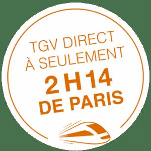 à 2h17 de Paris en TGV