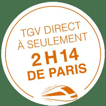 à 2h15 de Paris en TGV
