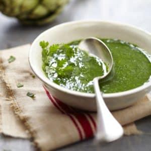 Recette détox : Soupe Artichaut, cerfeuil et persil