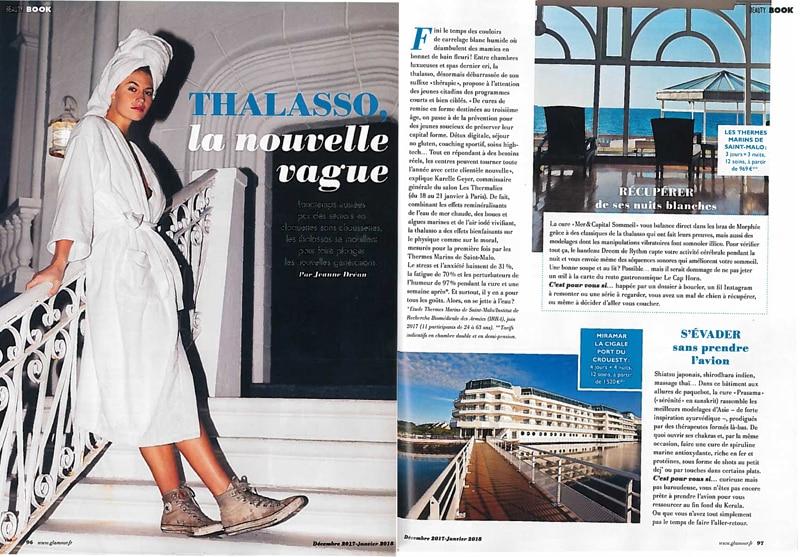 Article Thalasso la nouvelle vague dans magazine Glamour