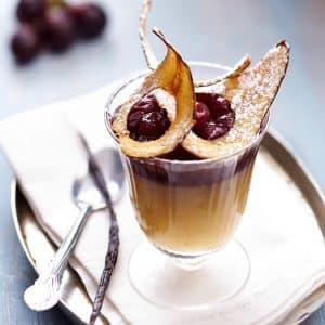 Recette de la Gelée de poire à la vanille et aux raisins