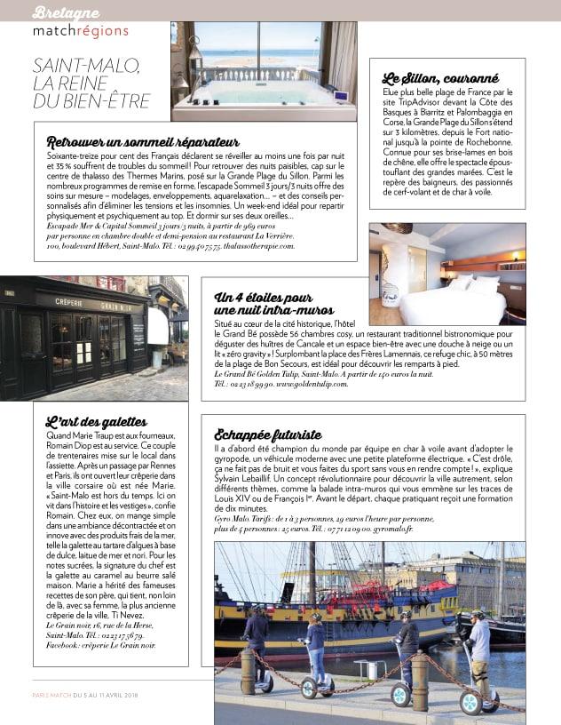 Escapade Mer et Sommeil dans Paris Match