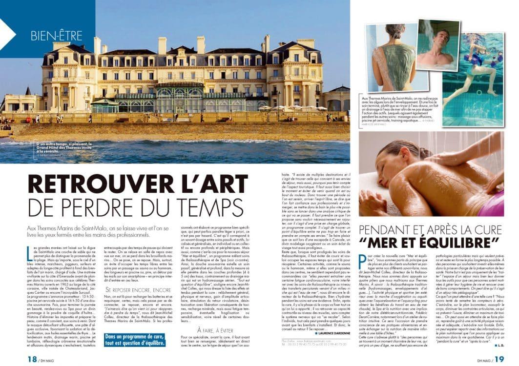 Magazines Belges sur les Thermes Marins