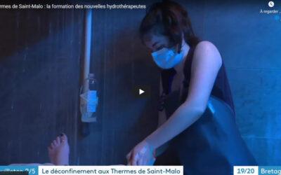 Reportage France 3 Bretagne sur le déconfinement aux Thermes Marins